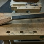 Fretboard dry-fitting and measurment
