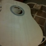 Spruce soundboard