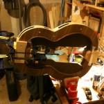 heel block being glued on
