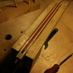Carbon fiber sticks on either side of the truss rod