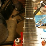 Frets installed