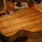 Building up coats of lacquer