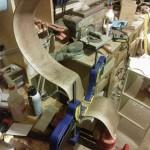 Glueing cutaway block