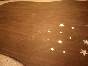 Started tracing stars