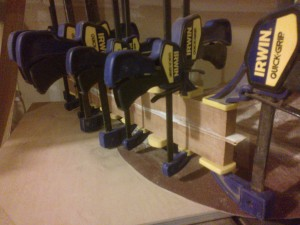 lots of clamps